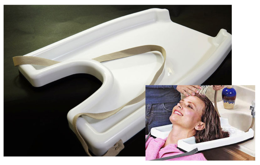 Hair shampooing tray
